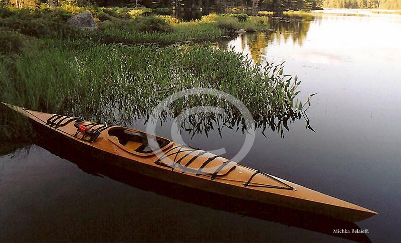 Kayak de mer en bois exotique!
